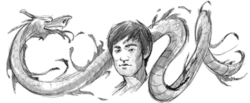 Google Logo: Commemorate the 70th anniversary of the birth of Bruce Lee