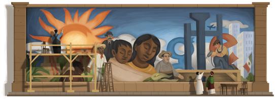 墨西哥国宝级画家迭戈·里维拉诞辰 125 周年