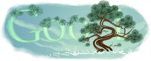 Google Logo: 2011 Arbor Day - Let's celebrate trees !