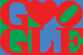 来自 Google 和波普艺术家 Robert Indiana 的情人节祝福!