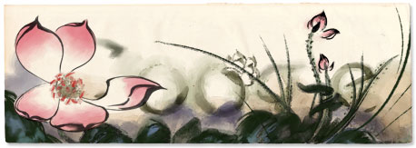 Google Logo: Birthday of Zhang Daqian, famous Chinese painter