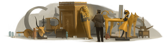 图坦卡蒙王木乃伊发现者、英国考古学家和埃及学先驱 霍华德·卡特 138 周年诞辰