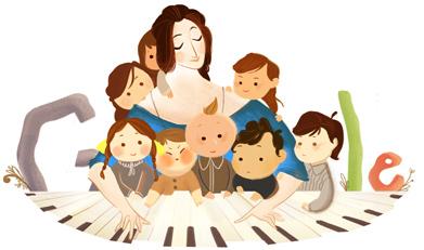 女钢琴家克拉拉·舒曼诞辰 193 周年