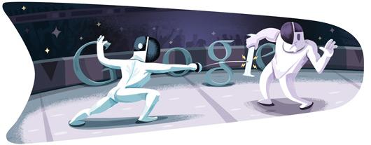 Google Doodle: 击剑[奥运特辑]