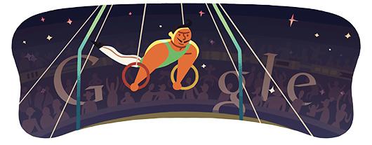 Google Doodle: 吊环[奥运特辑]
