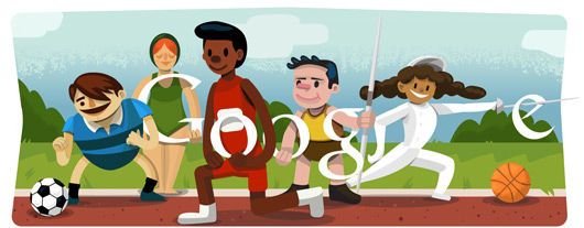Google Doodle: 2012 年伦敦奥运会开幕式