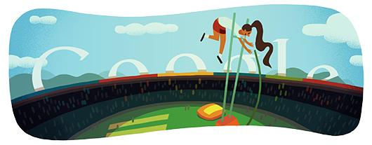 Google Doodle:撑杆跳[奥运特辑]