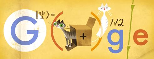 Google Doodle:奥地利理论物理学家,量子力学先驱薛定谔 126周岁诞辰