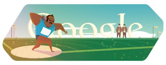 Google Doodle: 铅球[奥运特辑]