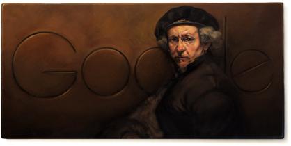 Google Doodle:荷兰画家伦勃朗诞辰 407周年