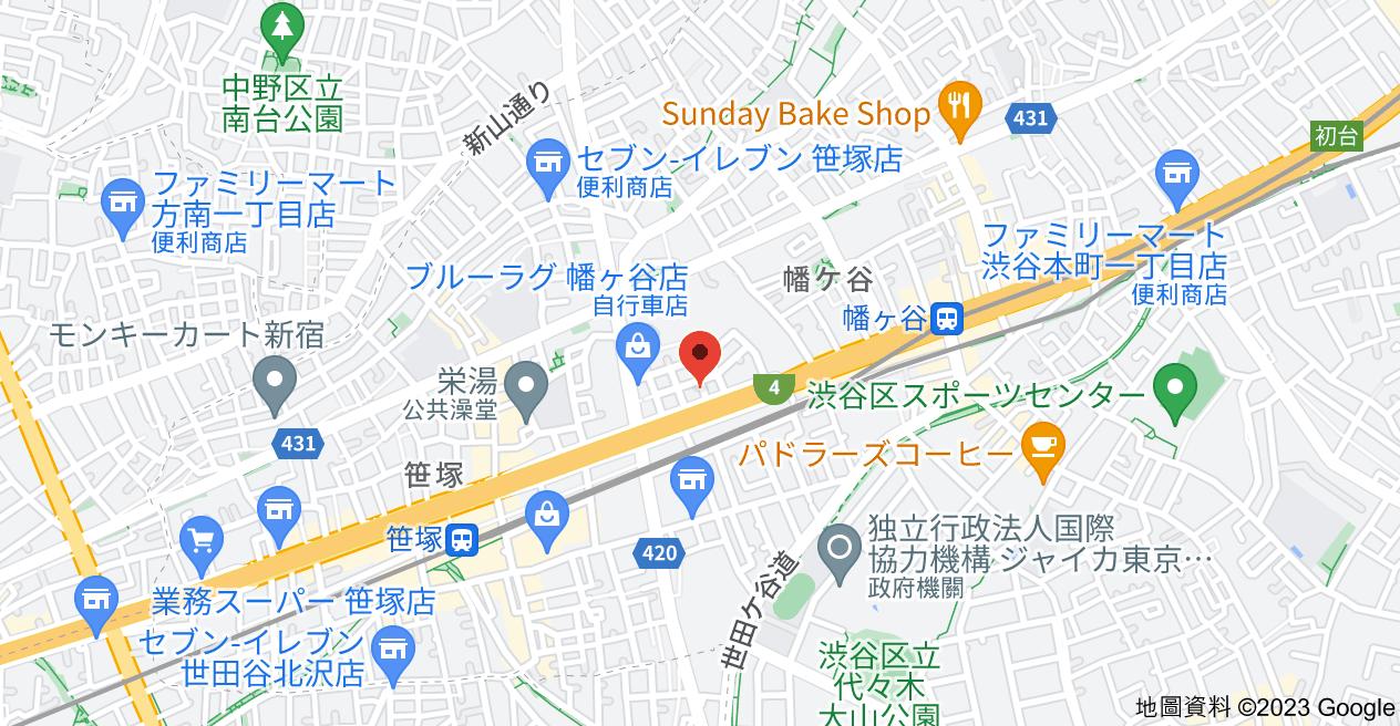 日本〒151-0072 Tōkyō-to, Shibuya-ku, Hatagaya, 2 Chome−25−1 レジデンシャルスター幡ヶ谷地圖