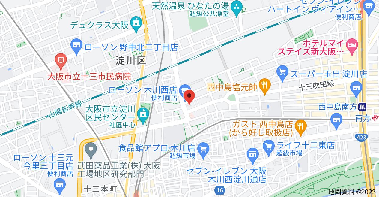 日本〒532-0013 Ōsaka-fu, Ōsaka-shi, Yodogawa-ku, Kikawanishi, 4 Chome−2−16 朝日プラザ梅田北デラ・リブジェ地圖