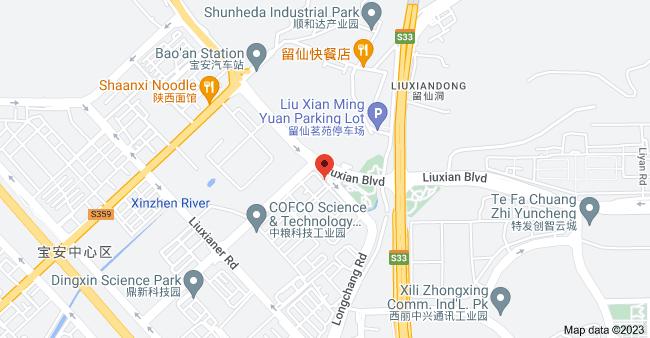 Map of Changfeng Industrial Park, Baoan Qu, Shenzhen Shi, Guangdong Sheng, China