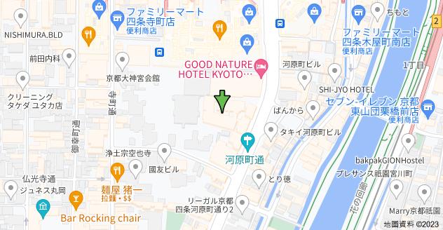 日本〒600-8022 Kyōto-fu, Kyōto-shi, Shimogyō-ku, Inarichō (Kawaramachidōri), 334−3, ザ・京都レジデンス四条河原町地圖